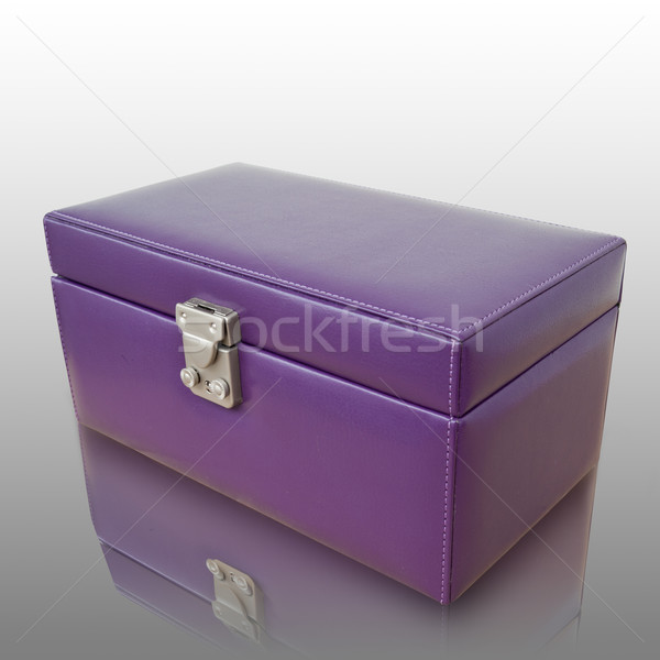 Purple leatherette box Stock photo © nuttakit