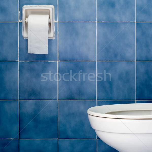 белый санитарный синий ванную дома Сток-фото © nuttakit