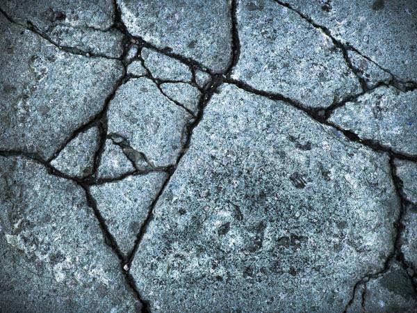 blue broke rock wall Stock photo © nuttakit