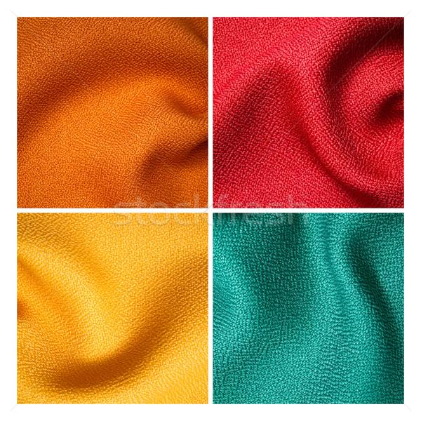 Vier weefsel monster textuur interieur achtergrond Stockfoto © nuttakit