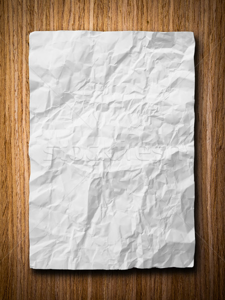 White crumpled paper Stock photo © nuttakit