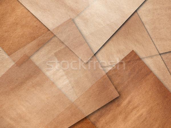 Lagen oude pakpapier complex textuur achtergrond Stockfoto © nuttakit
