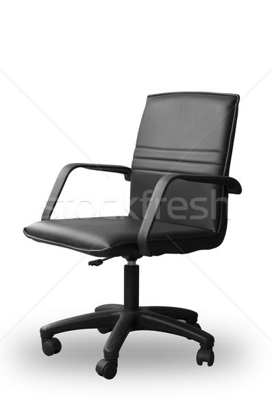 Black leather office chair Stock photo © nuttakit