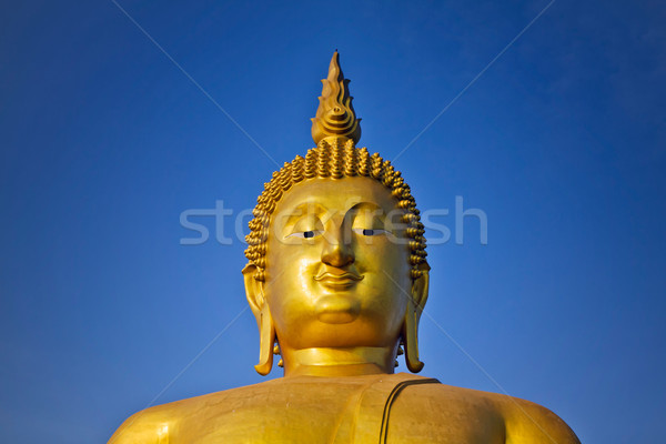 Visage or buddha monde ciel bleu Photo stock © nuttakit