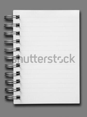 Een gezicht nota boek witte papier Stockfoto © nuttakit