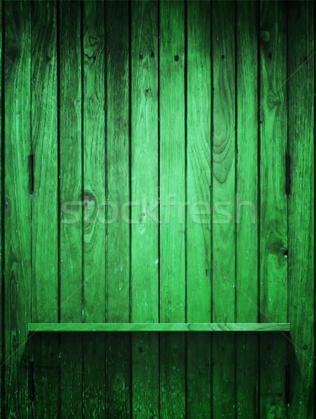 Groene hout paneel plank verticaal textuur Stockfoto © nuttakit