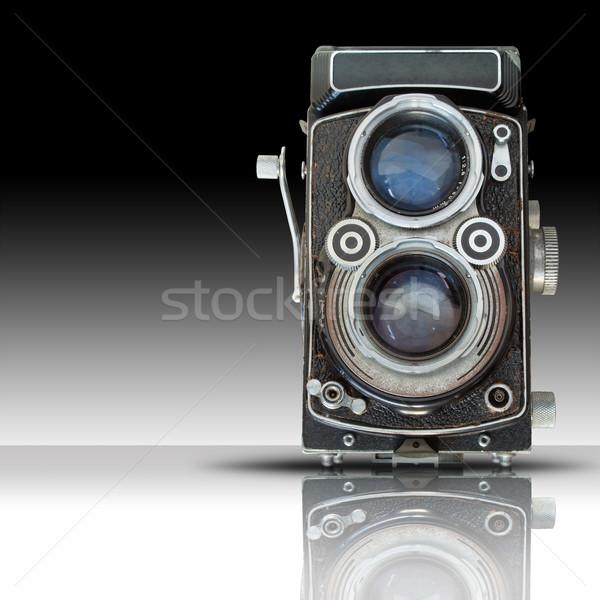 öreg iker lencse kamera elöl fehér Stock fotó © nuttakit