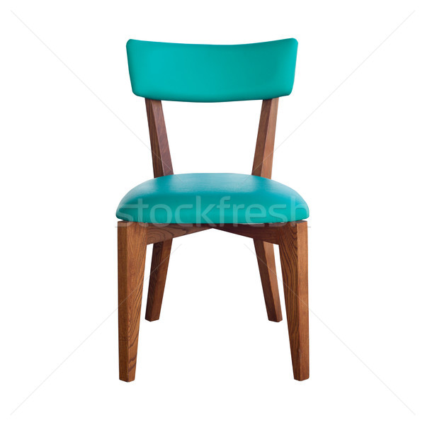 wood chair green leather isolated with path Stock photo © nuttakit