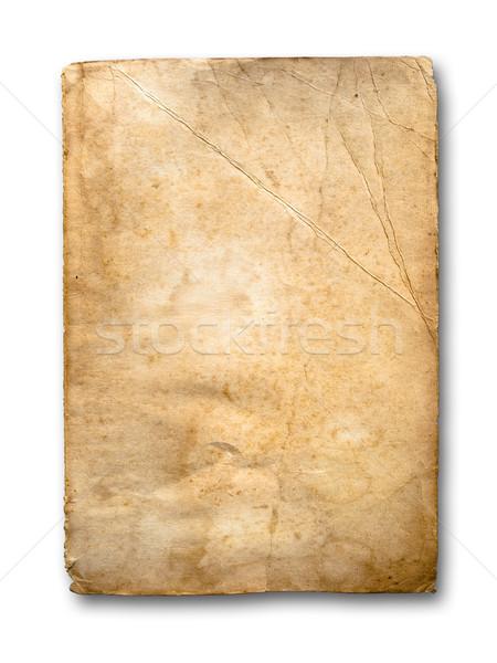 Oude grunge papier witte schaduw Stockfoto © nuttakit
