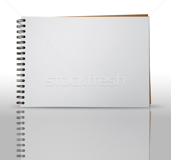 One Page of Sketch Book Stock photo © nuttakit