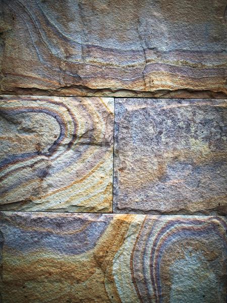 Kleurrijk stenen muur gebouw bouw natuur ontwerp Stockfoto © nuttakit