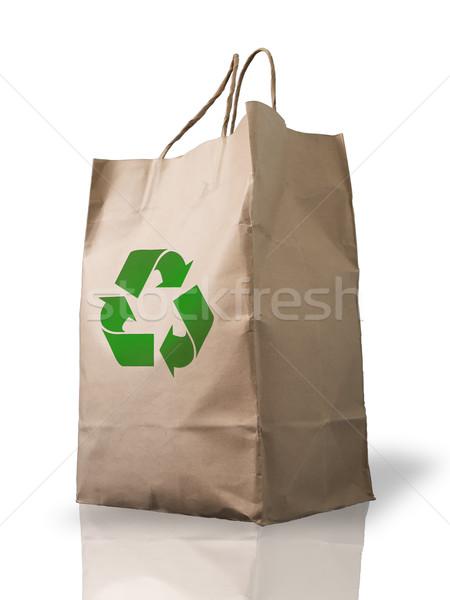 Recycleren bruin zak vorm markt papier Stockfoto © nuttakit