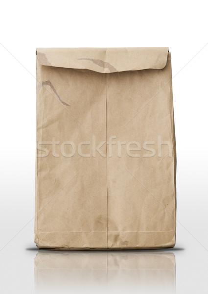 Bruin envelop witte vloer business kantoor Stockfoto © nuttakit
