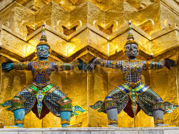 Thai Giant stucco in the Grand Palace Stock photo © nuttakit