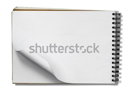 открытых сведению книга пустая страница белый тень Сток-фото © nuttakit