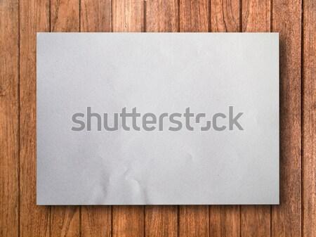 White paper on beech wood Stock photo © nuttakit