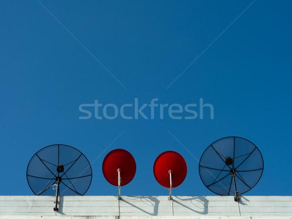 Two type Satellite dish Stock photo © nuttakit