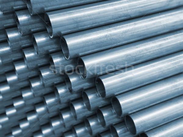 Blauw staal pijp bouw abstract Stockfoto © nuttakit