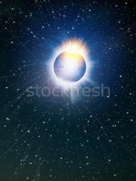 Heldere star ruimte abstract natuur Stockfoto © nuttakit