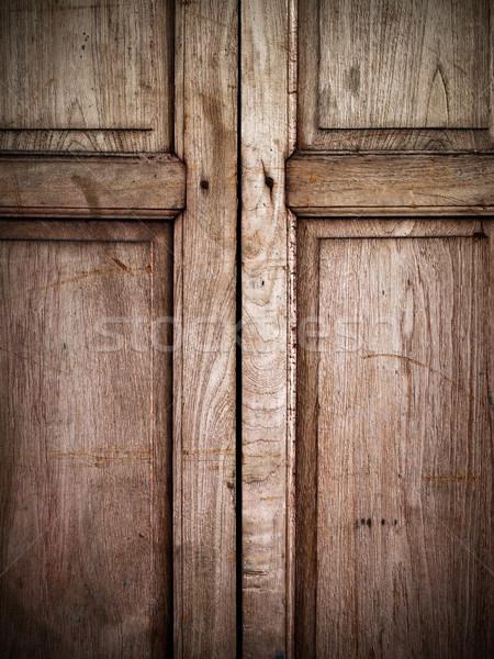 old wood window Stock photo © nuttakit
