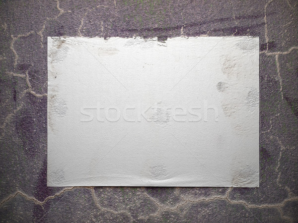 white paper on crack old wall Stock photo © nuttakit