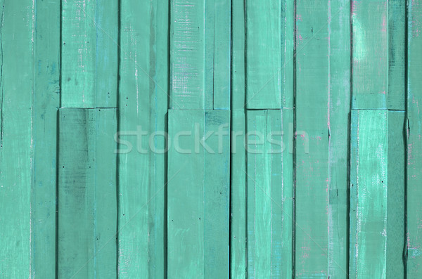 Light Green color paint plank wall Stock photo © nuttakit