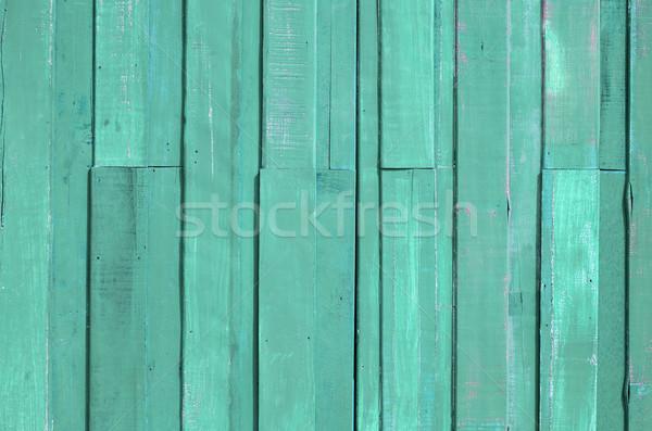 Vert clair couleur peinture planche mur texture Photo stock © nuttakit