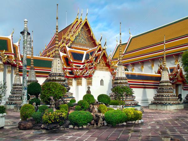 Thai tempel perspectief Bangkok stad architectuur Stockfoto © nuttakit
