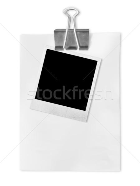 Old photo frame on white paper Stock photo © nuttakit
