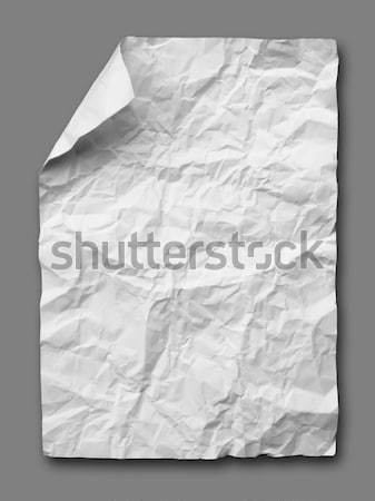 White crumpled paper on gray Stock photo © nuttakit