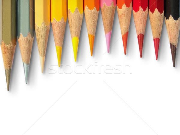 Elf hot kleur witte hout Stockfoto © nuttakit