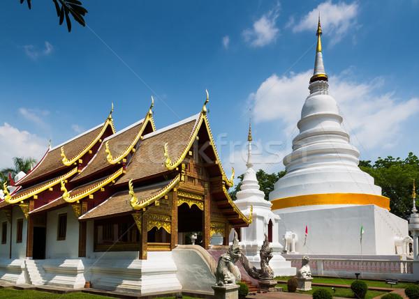 Catedral pagode templo norte Tailândia porta Foto stock © nuttakit