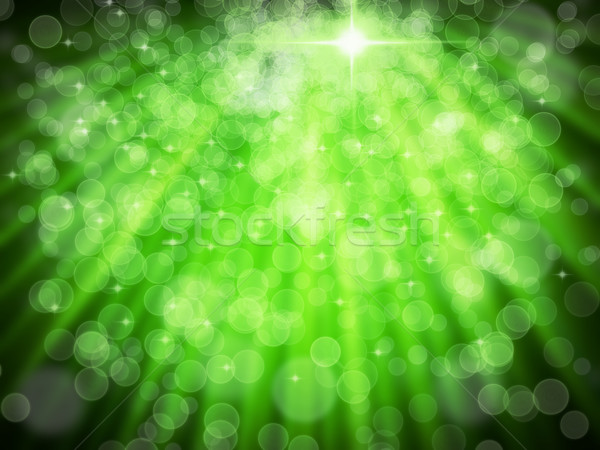 Abstract of Green Aura White bokeh Stock photo © nuttakit
