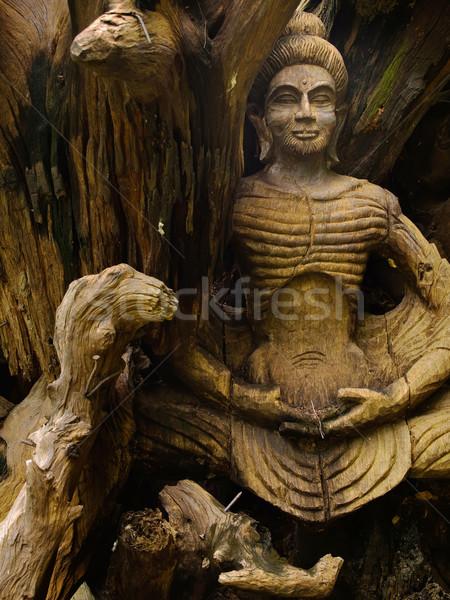 Buddha image wood carved Stock photo © nuttakit