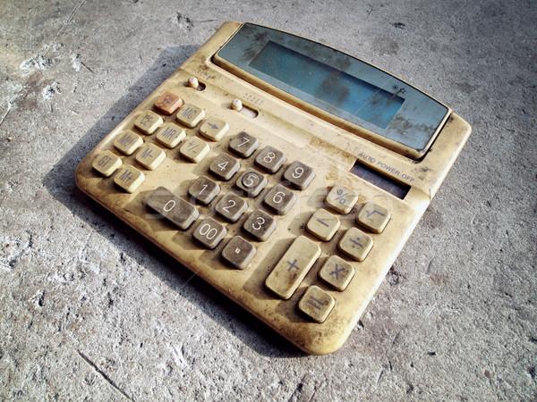 грязные старые калькулятор полу служба фон Сток-фото © nuttakit