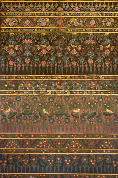 Thai Art Painting on Wall Stock photo © nuttakit