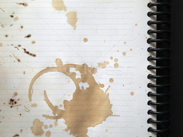 Coffee stains on note book Stock photo © nuttakit