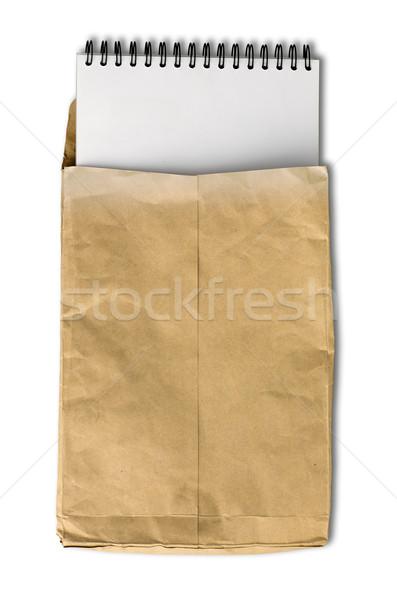 Blanco nota libro arrugado papel de estraza dotación Foto stock © nuttakit