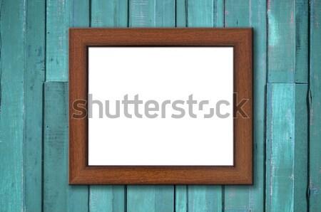 画像フレーム 古い木材 壁 シェルフ ウェブ ストックフォト © nuttakit