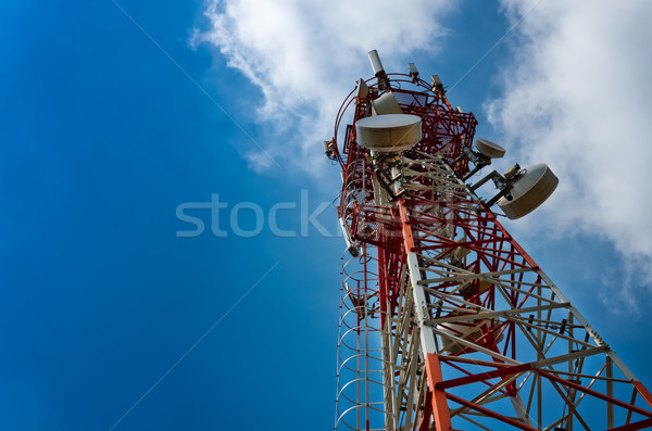 Telekomünikasyon anten radyo televizyon telefonculuk bulut Stok fotoğraf © nuttakit