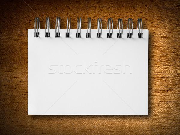 Houtstructuur verticaal witte notebook hout business Stockfoto © nuttakit
