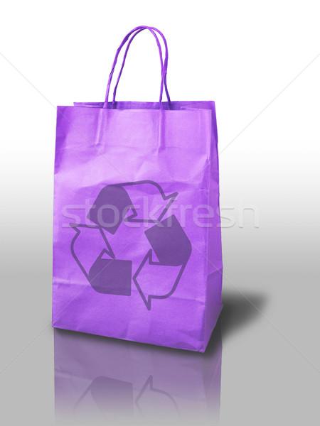 紫色 リサイクル 紙袋 紙 背景 ショッピング ストックフォト © nuttakit