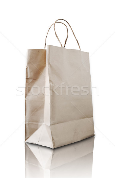 Brown paper bag Stock photo © nuttakit