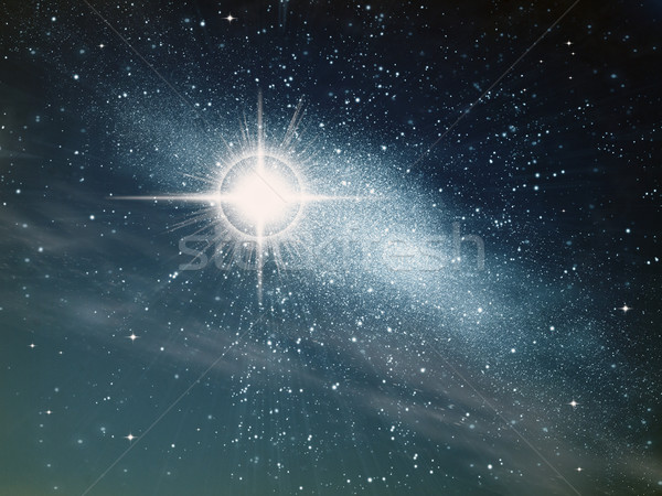 Heldere star ruimte abstract natuur achtergrond Stockfoto © nuttakit