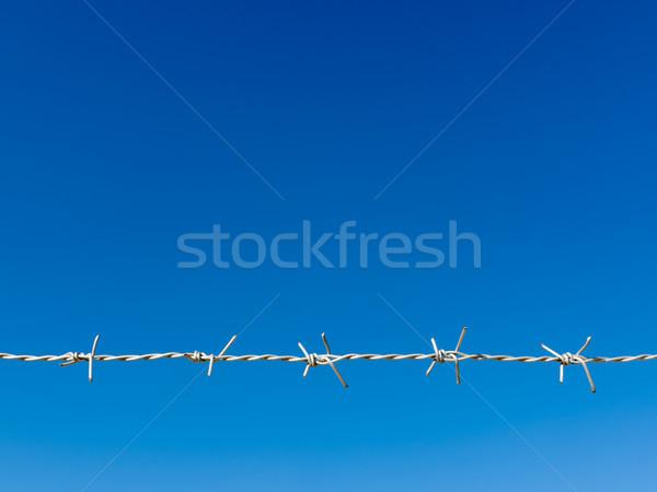 Beyaz ustura tel mavi gökyüzü hat arka plan Stok fotoğraf © nuttakit