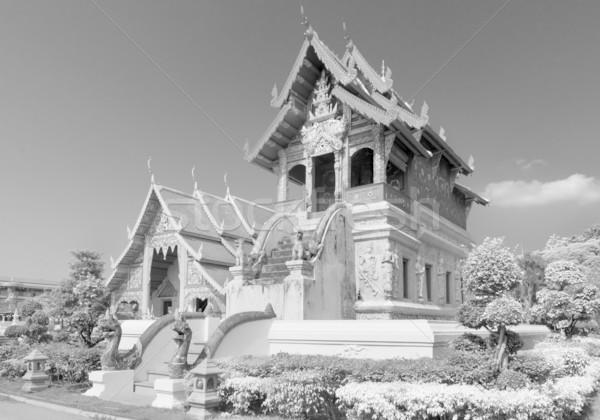 Bianco nero piccolo scrittura porta architettura Foto d'archivio © nuttakit