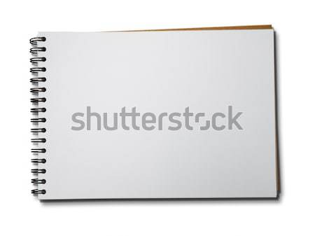 Blank White Page of Note Book Horizontal Stock photo © nuttakit