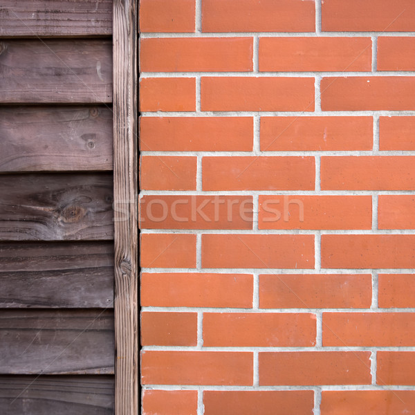 Old wood and Brick Wall Stock photo © nuttakit