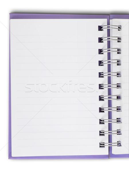 белый пустая страница Purple охватывать сведению Сток-фото © nuttakit