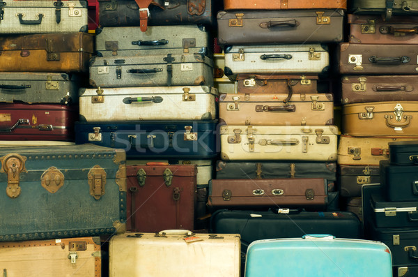 Old vintage suitcases Stock photo © nuttakit